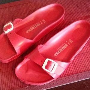 Red rubber Birkenstock